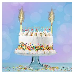 """Набор свечей в торт """"С днём рождения"""", буквы + 2 фонтана  NNB"""
