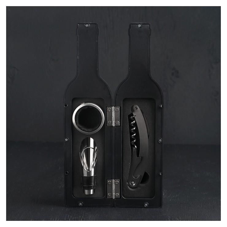 Набор для вина «Бутылка», 3 предмета: штопор, воронка, кольцо  NNB