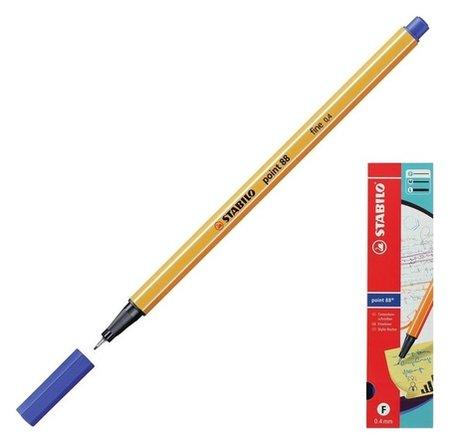 Ручка капиллярная Stabilo Point 88, 0.4 мм, чернила синие 88/41  Stabilo