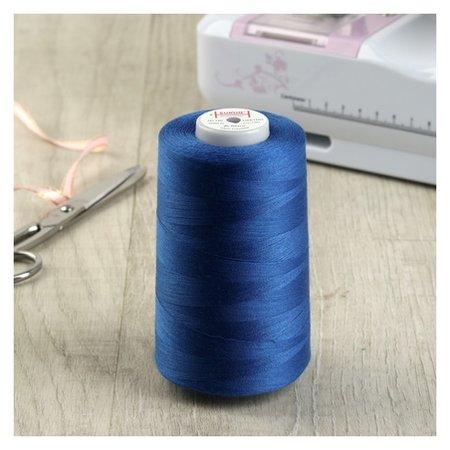 Нитки 50/2, №140, 5000 м, цвет синий №1291  Euron