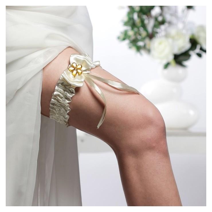 """Подвязка для невесты """"Бант"""", айвори  NNB"""