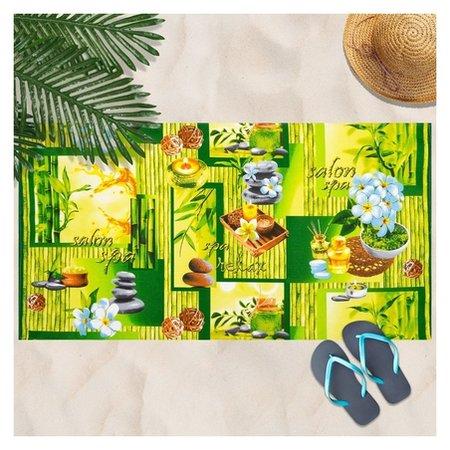 Вафельное полотенце релакс 80х150 см, разноцветный,хлопок 100 %, 160г/м²  DomoVita