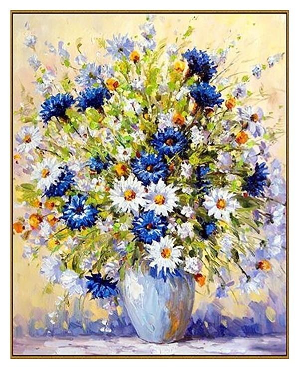 Алмазная мозаика «Летний букет», 40 × 50 см, 39 цветов  Milato