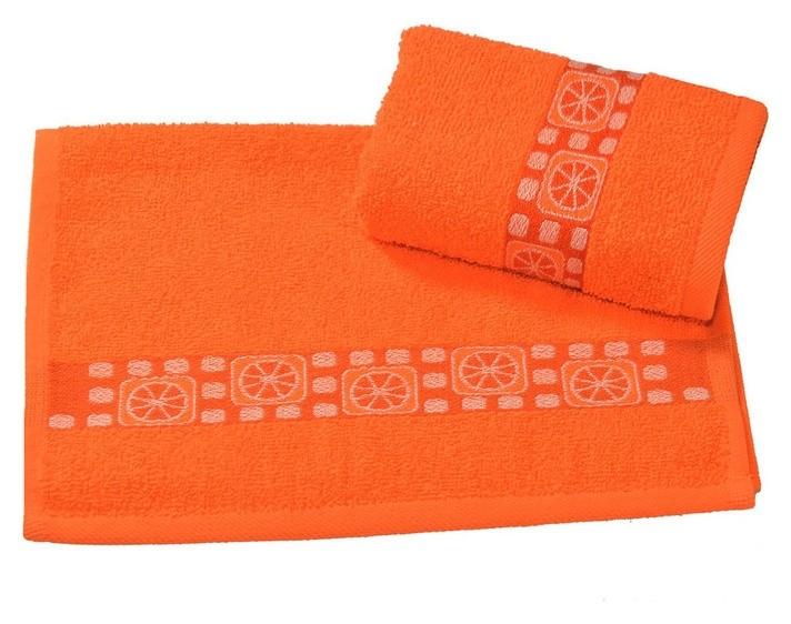 Полотенце махровое жаккардовое 30х60 см, цитрус, хлопок 100%, 340 г/м2 Текстиль центр