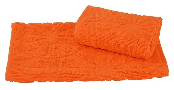 Полотенце махровое жаккардовое 30×50 см 400 г/м2, оранжевый, 100% хлопок Текстиль центр