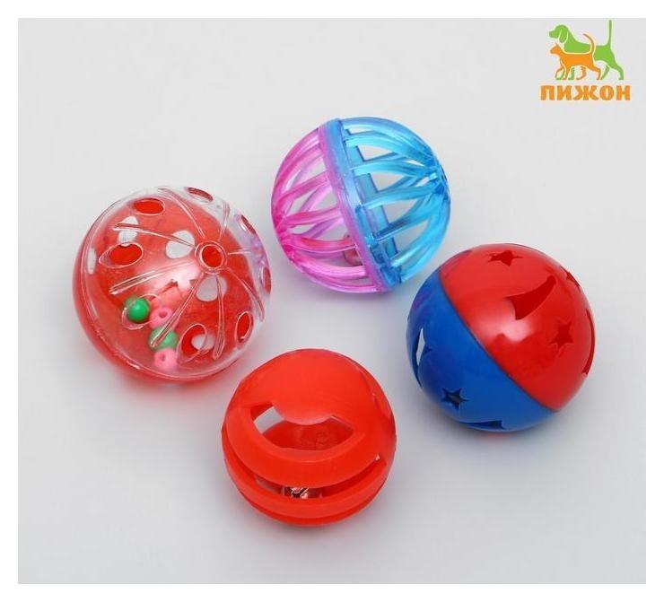 Набор из 4 шариков для кошек  Пижон