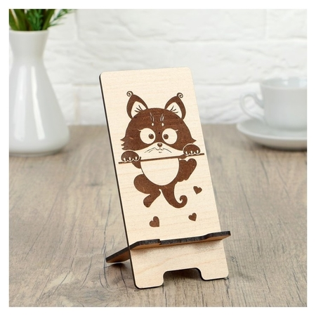 Подставка под телефон «Котик», 7×8×15 см  NNB