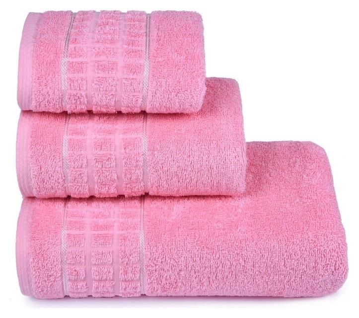 Полотенце махровое «Megapolis» 50х90 см, цвет розовый, 400 гр/м2  Cleanelly