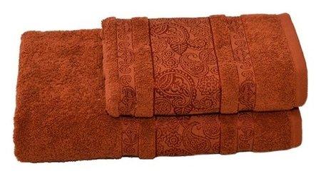 Полотенце махровое бодринг 70х140 +/- 2 см, коричневый, хлопок 100%, 430 г/м2 Текстиль центр