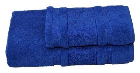Полотенце махровое бодринг 70х140 +/- 2 см, синий, хлопок 100%, 430 г/м2 Текстиль центр