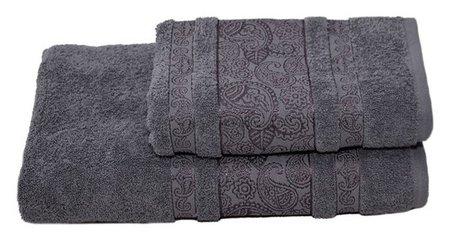 Полотенце махровое бодринг 70х140 +/- 2 см, серый, хлопок 100%, 430 г/м2 Текстиль центр
