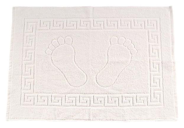 Полотенце махровое для ног, размер 50х70 см, белый, хлопок 100%  Текстиль центр