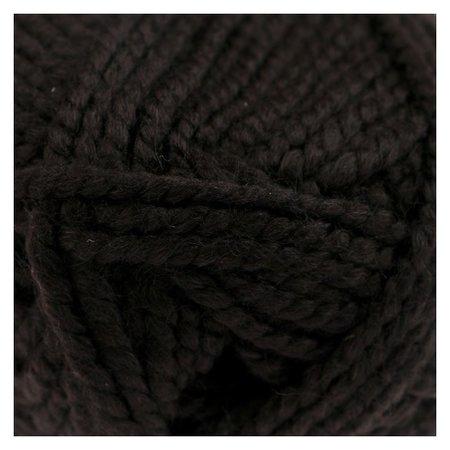 """Пряжа """"Триумф"""" 20% шерсть, 80% акрил 100м/100гр (003 чёрный)  Камтекс"""