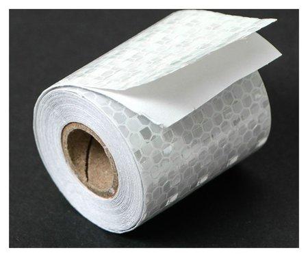Светоотражающая лента Torso, самоклеящаяся, белая, 5 см х 3 м  Torso