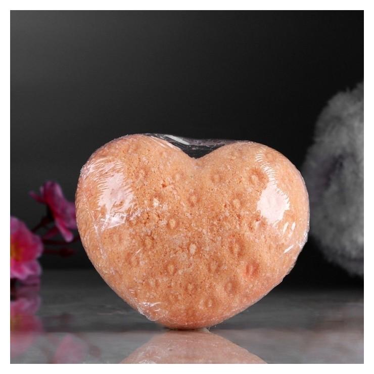 """Шипучая бомбочка """"Сердце"""" с ароматом апельсина, оранжевая  Добропаровъ"""