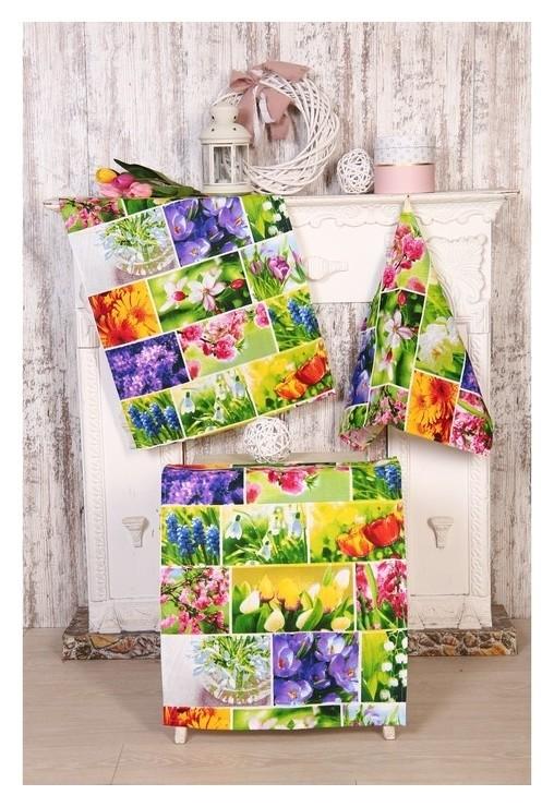 Набор полотенец «Первоцвет» 45х60 см -3шт (В пакете)  DomoVita