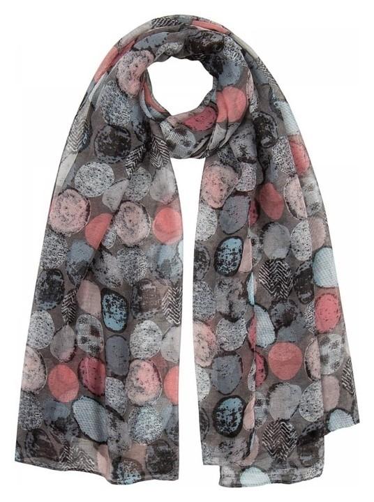 Палантин женский текстильный Pp1619 цвет серый, р-р 90х180  Rossini