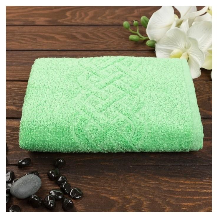 Полотенце махровое «Plait», цвет зелёный, 30х70 см  Cleanelly
