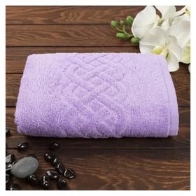 Полотенце махровое «Plait», цвет сирень, 30х70 см  Cleanelly