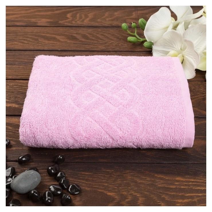 Полотенце махровое «Plait» цвет розовый, 30х70  Cleanelly