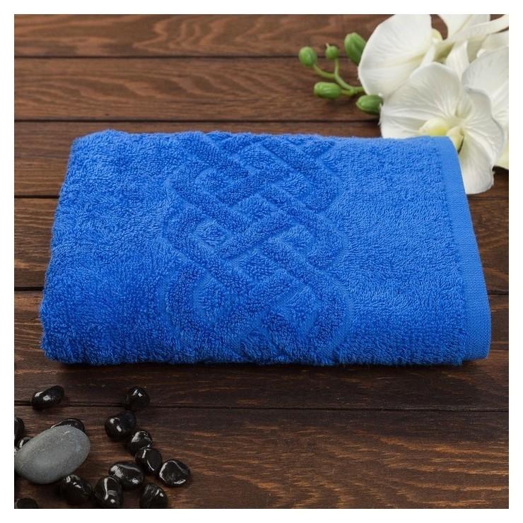 Полотенце махровое «Plait», цвет синий, 30х70 см  Cleanelly