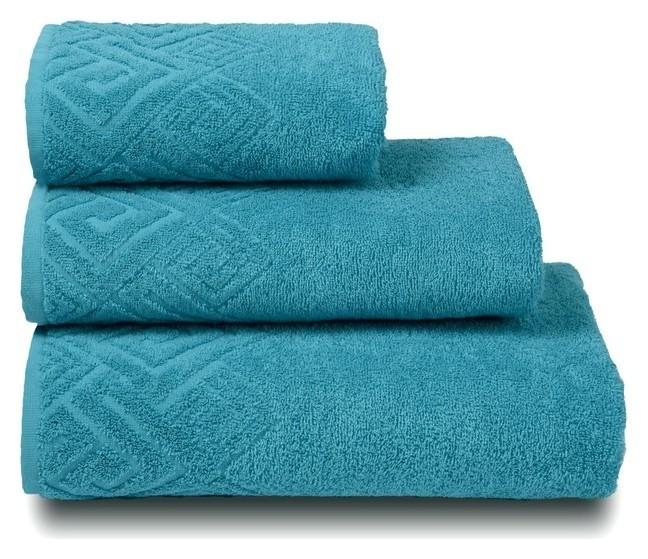 Полотенце махровое «Poseidon» цвет бирюза, 70х130  Cleanelly