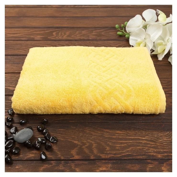 Полотенце махровое «Plait» цвет жёлтый, 30х70  Cleanelly