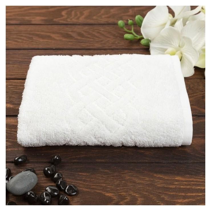 Полотенце махровое «Plait», цвет белый, 30х70 см Cleanelly