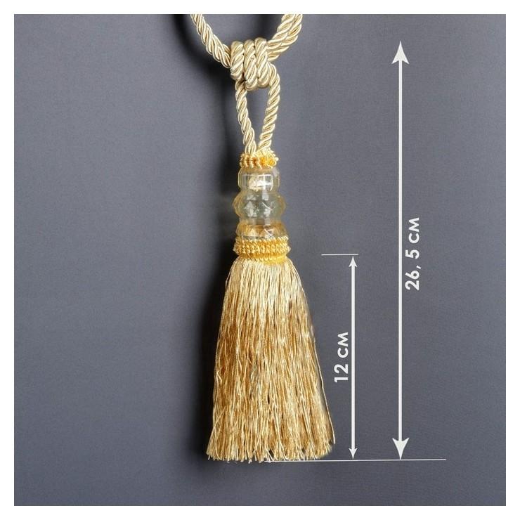 Кисть для штор «Три кристалла», 50 ± 1 см, цвет золотой  Арт узор