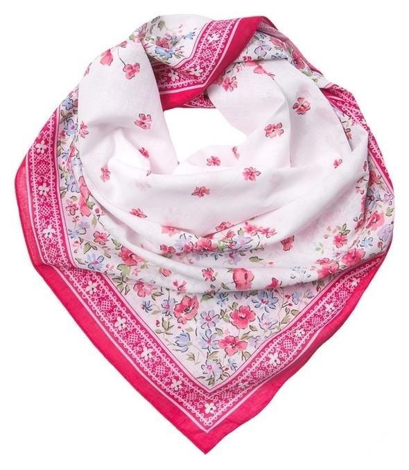 Платок женский Kc1730_3 цвет розовый, р-р 80x80  Rossini