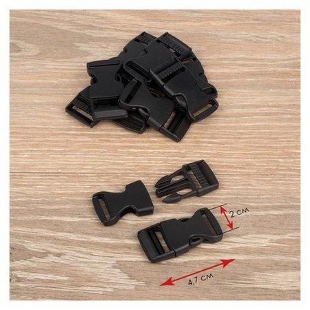 Фастекс 20 мм, нагрузка до 15 кг, 10 шт, цвет чёрный  NNB