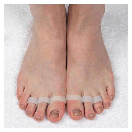 Корректоры для пальцев ног, на 3 пальца, пара, цвет белый  Onlitop