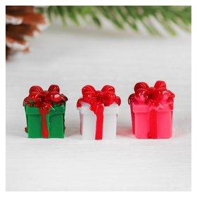 Миниатюра кукольная «Подарочек», набор 4 шт, размер 1 шт: 1,5×1,5×1,6 см
