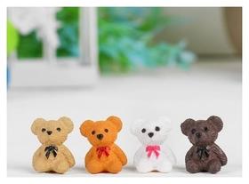 Миниатюра кукольная «Мишка», набор 4 шт, размер 1 шт: 1,8×1,4×1,1 см