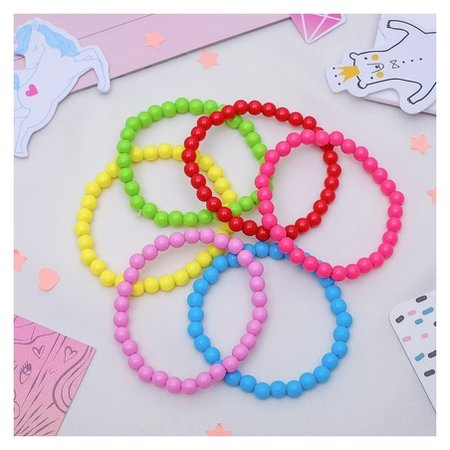 """Набор детских браслетов """"Выбражулька"""" бусинки, 6 нитей, цветной  Выбражулька"""