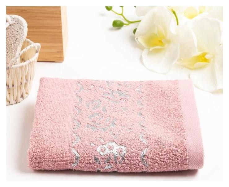 Полотенце махровое нежность 051 70*130 см, розовый, хлопок 100% 340гр/м2  Belezza