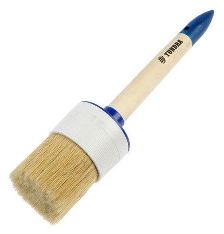 Кисть круглая Tundra, натуральная щетина, деревянная ручка, №18, 60 мм  Tundra