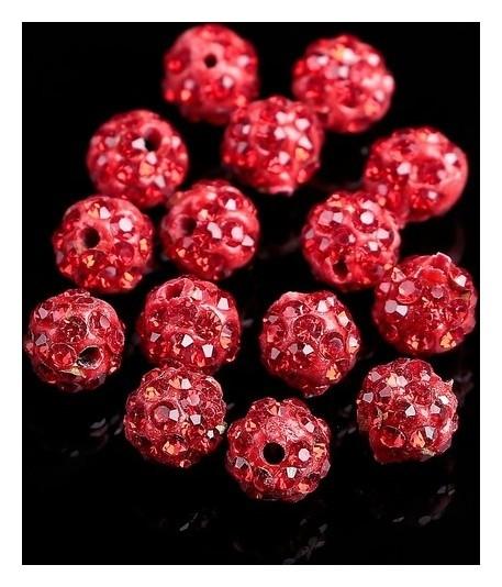 """Бусина """"Шамбала"""" 6мм (Набор 15шт), цвет красный  Queen Fair"""