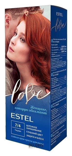 Купить Краска для волос Estel Professional, Стойкая крем-краска для волос Estel love , Россия, Тон 7/4 Тициан
