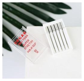 Иглы для бытовых швейных машин, для стрейч-ткани, №90/14, 5 шт  Organ