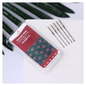 Иглы для бытовых швейных машин, для кожи, №80-120, 5 шт  Арти