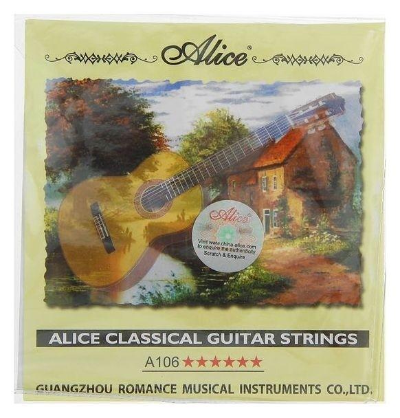 """Струны """"Alice"""" для классической гитары, нейлон и посеребрённая медь  Alice"""