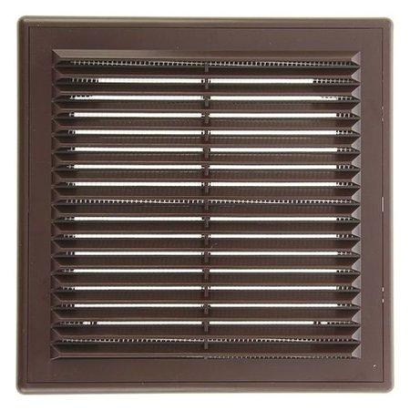 """Решетка вентиляционная """"Эковент"""" 2121 Р, 208x208 мм, цвет коричневый  Эковент"""