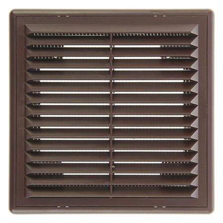 Решетка вентиляционная ERA 1515 Р, 150x150 мм, коричневая  ERA