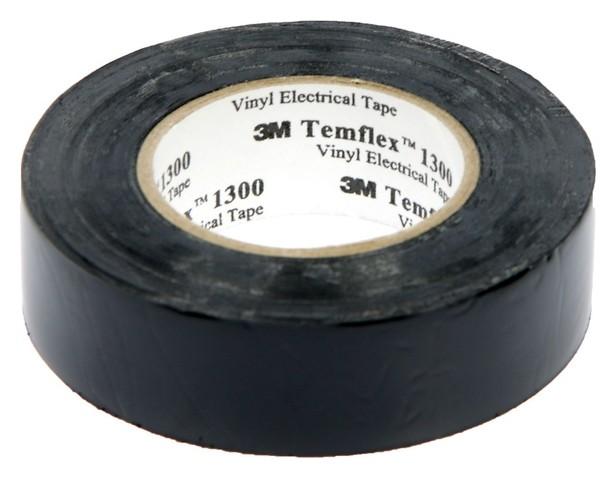 """Изолента 3М """"Temflex 1300"""", пвх, 19 мм X 20 м, 130 мкм, черная  3M"""