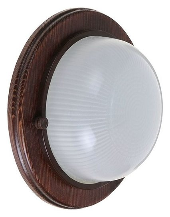 Светильник для бани/сауны Italmac Termo 60 00 16, 60 Вт, Ip54, цвет венге, до +130°c  Italmac