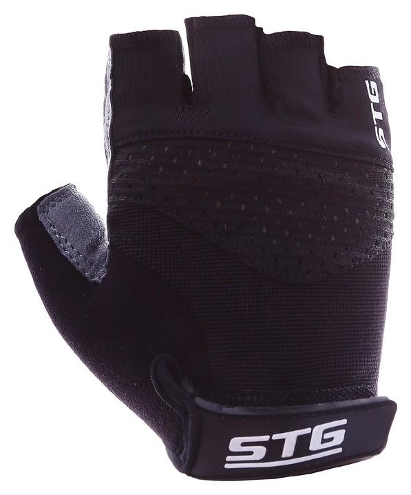 Перчатки велосипедные STG Ai-03-202, размер S, цвет чёрный/серый  STG