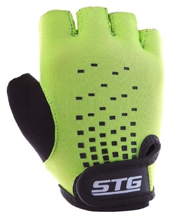 Перчатки велосипедные детские STG Al-03-511, размер XS, цвет зелёный/чёрный  STG