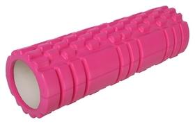 Роллер для йоги 30 х 10 см, массажный, цвет розовый