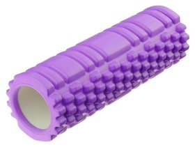 Роллер для йоги 30 х 10 см, массажный, цвет фиолетовый
